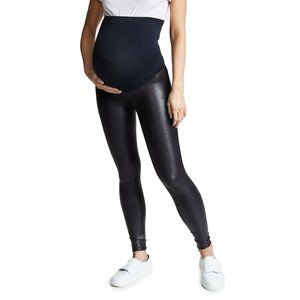 Spanx Mama Faux Leather Leggings X-Small Nwot